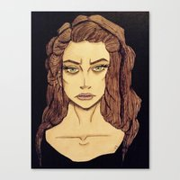 lorde Canvas Prints featuring Lorde by Haley Kline