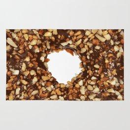 Overfill milk chocolate doughnut Rug