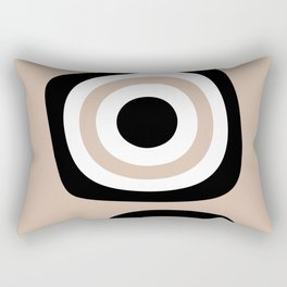 Abstract Neutral Mid Century 52 Rectangular Pillow