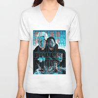 blade runner V-neck T-shirts featuring Blade runner by David Amblard
