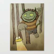 Wild Thing Jumping Canvas Print
