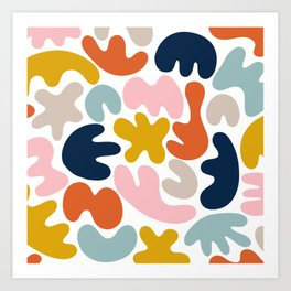 Blob Collage - Multi Art Print