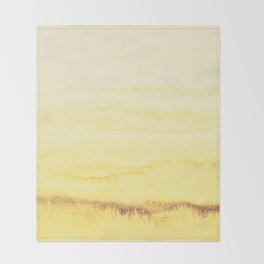 WITHIN THE TIDES - SUNNY YELLOW Throw Blanket
