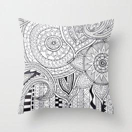 Bohemian Pattern Print Throw Pillow