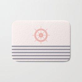 AFE Pink Nautical Helm Wheel  Bath Mat