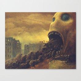 Untitled (Behemoth), by Zdzisław Beksiński Canvas Print