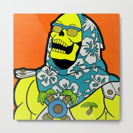Sunset Over Castle Grayskull - MOTU pop art Metal Print