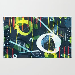 Abstract modern geometric shapes pattern Rug