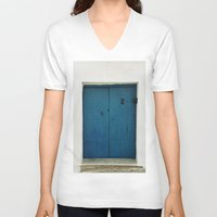 door V-neck T-shirts featuring Door by Those Lucky Days