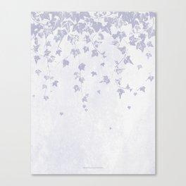 Soft Purple Trailing Ivy Leaf Print Canvas Print