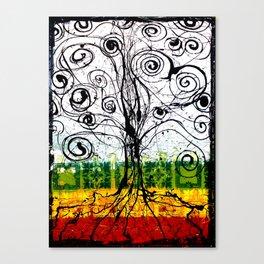 Rasta Tree Canvas Print