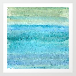 Misty Watecolor Mosaic Art Print