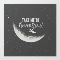 neverland Canvas Prints featuring Neverland by Pink Berry Patterns
