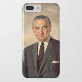 President Lyndon Johnson Painting iPhone Case