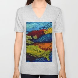 African American Masterpiece 'Untitled' by Ellis Wilson Unisex V-Neck