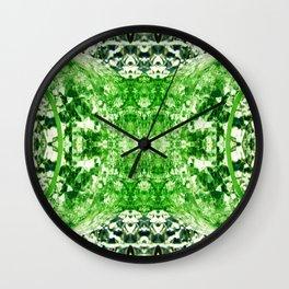 Green Splitting Spheres Wall Clock