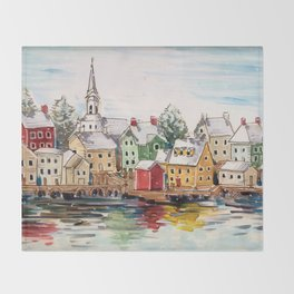 Portsmouth, New Hampshire Throw Blanket