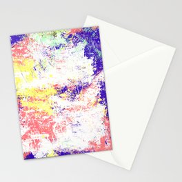 Abstract Oil Painting Mess Stationery Cards