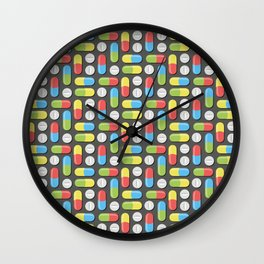 Pills and capsules Wall Clock