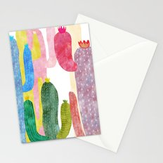 color cactus Stationery Cards