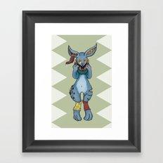 Bunnies have a Bite too Framed Art Print