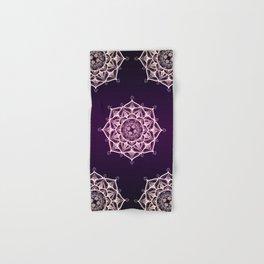 Violet Glowing Spirit Mandala Hand & Bath Towel