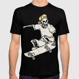 Vintage Skateboarding Skeleton T-shirt