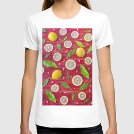 Fruits and leaves pattern (34) T-shirt