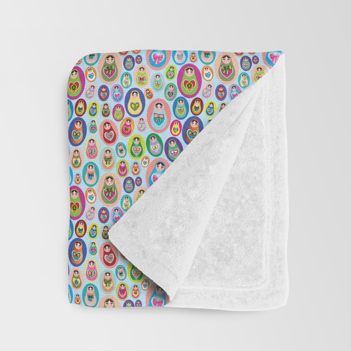 Russian matryoshka nesting doll Throw Blanket