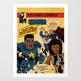 Colored Comics Presents Samson Art Print