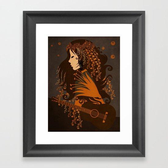 Mujer floral II Framed Art Print