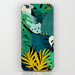 Tropical Jungle Leaves iPhone Skin