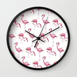 Flo the Flamingo Wall Clock