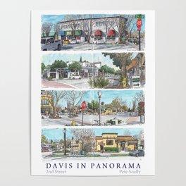 Davis Panorama Poster: 2nd St Poster