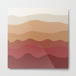 Retro sunny waves Metal Print
