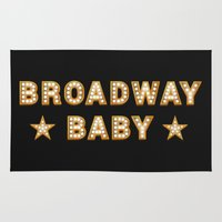 broadway Area & Throw Rugs featuring Broadway Baby! by byebyesally