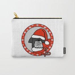 Cute Santa Dog Portrait Carry-All Pouch