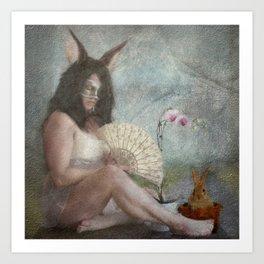 The Easter Bunny...  Art Print