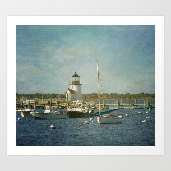 Welcome to Nantucket Art Print