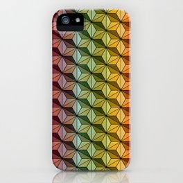 Wooden Asanoha Colorful iPhone Case