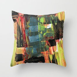 Step Through the Portal Abstract Contemporary Painting Throw Pillow