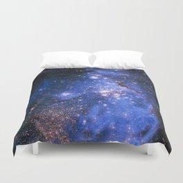 Blue Embrionic Stars Duvet Cover