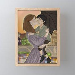 Feyre and Nyx in Velaris Framed Mini Art Print