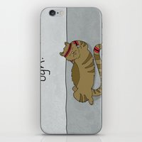 caleb troy iPhone & iPod Skins featuring Crunch Cat by Caleb Croy by UCO Design
