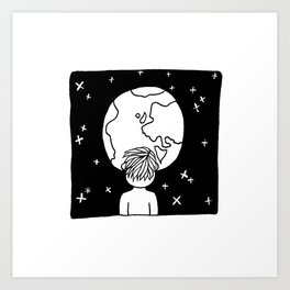You cannot look upon the night sky and not wonder what it's like to be amongst the stars. Art Print