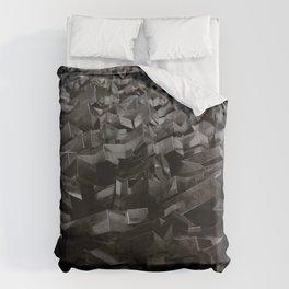 Black Steel Duvet Cover