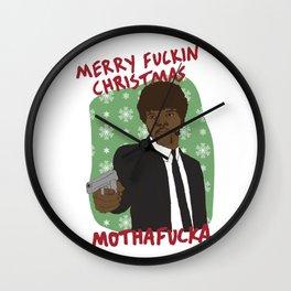 SAMUEL L JACKSON PULP FICTION JULES WINNFIELD MERRY CHRISTMAS Wall Clock