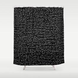 Physics Formulas Shower Curtain