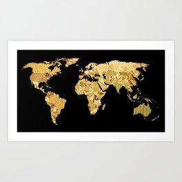 The World is Golden Art Print