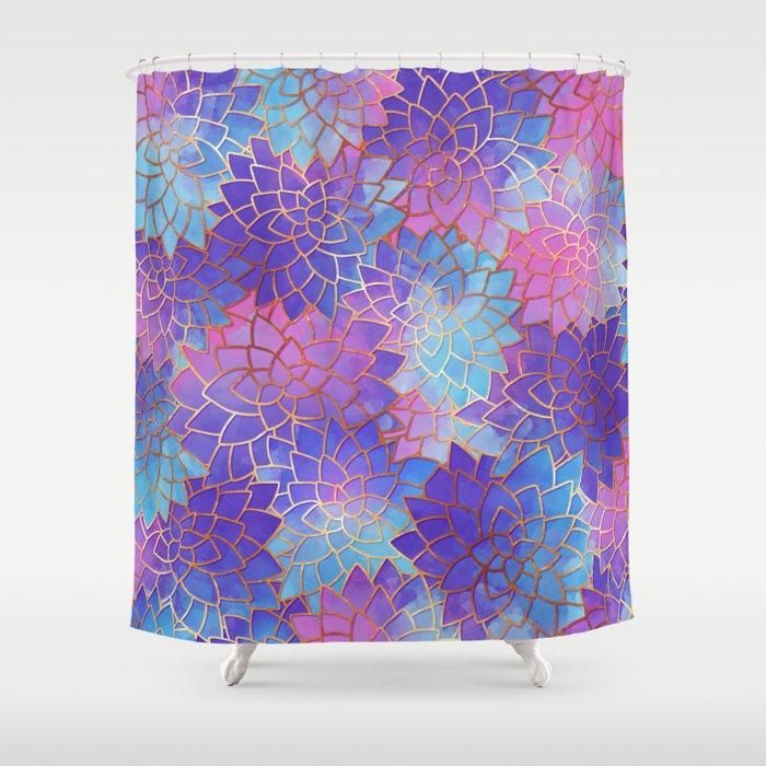 Lotus Shower Curtain By Nephelys